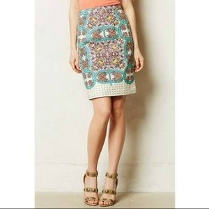 Anthropologie | Manoyla Linen Pencil Skirt